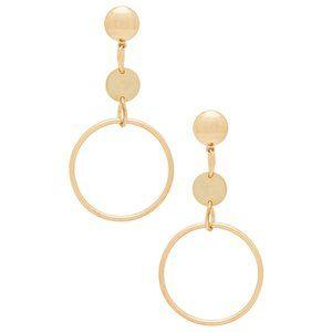 NWT Ettika In The Crowd Earrings in Metallic Gold